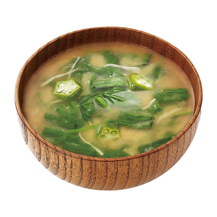 ねばねば野菜のお味噌汁