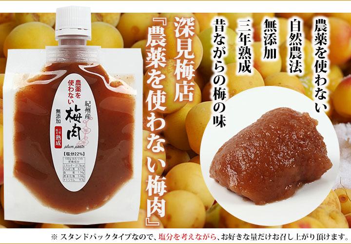 農薬を使わない梅肉 110g