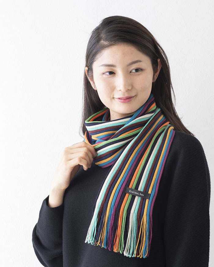 松井ニット技研 ミュージアム・ニットマフラー/レッド 【2019】