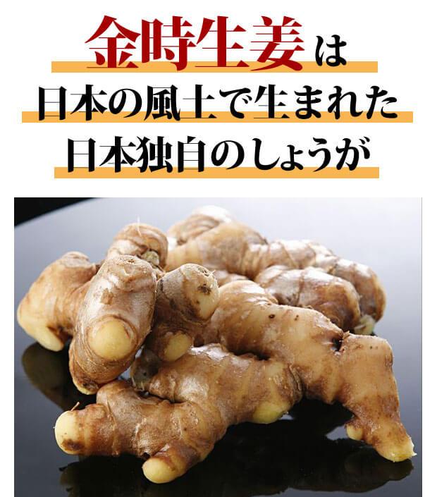 金時生姜は日本の風土で生まれた独自の生姜