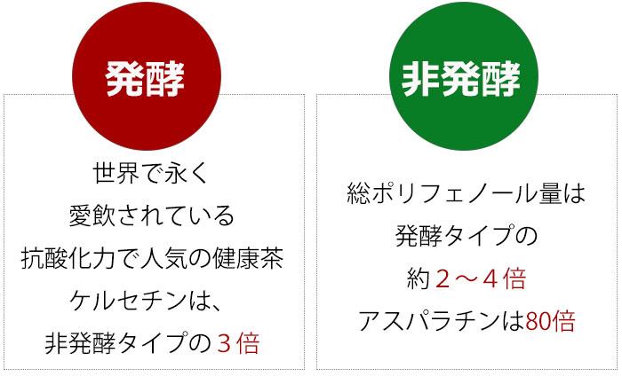 発酵タイプと非発行タイプとの比較